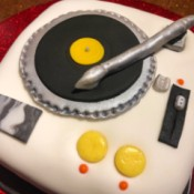 DIY Turntable Cake - finished cake