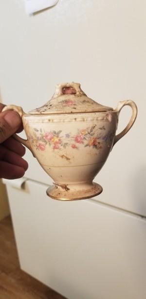 Value of Eggshell Georgian Homer Laughlin Dinnerware - sugar bowl