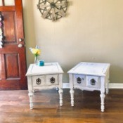 Value of Refinished Mersman Tables - tables refinished in antiqued white