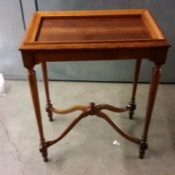 Value of an Old Wooden Table - four legged table with decorative bracing