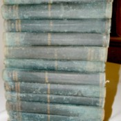 Value of 1902 Collier's Encyclopedias - stack of very worn books