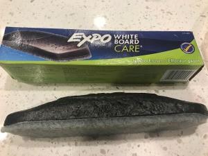 Use a White Board Eraser for Window Streaks