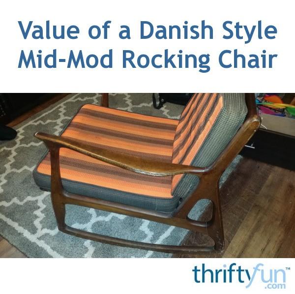 Superb Value Of A Danish Style Mid Mod Rocking Chair Thriftyfun Lamtechconsult Wood Chair Design Ideas Lamtechconsultcom