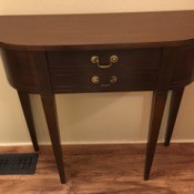 Value of a Mersman Table - table with partially straight sides, similar to a half moon console table