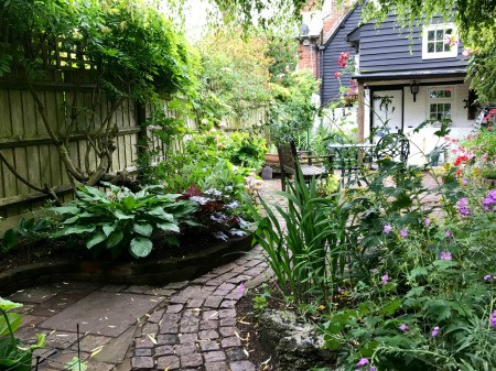 A beautifully landscaped garden.