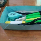 How to Make a Paper Office Supplies Container - paper office supply container