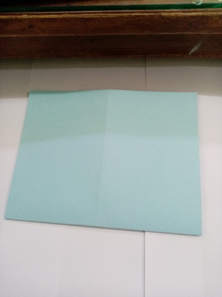 How to Make a Paper Office Supplies Container - open out and fold in half the other way