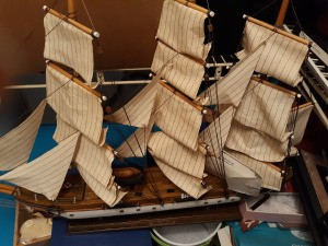 Value of an Ashley Belle 3 Masted Ship - 3 masted model ship