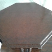 Value of an Antique Parlor Table - octagonal table top