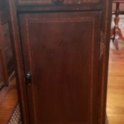 Identifying an Inlaid Cabinet - cabinet with drawer and door