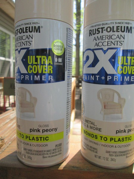 Use Spray Paint to Have a Choice in Planter Colors - two cans of spray paint