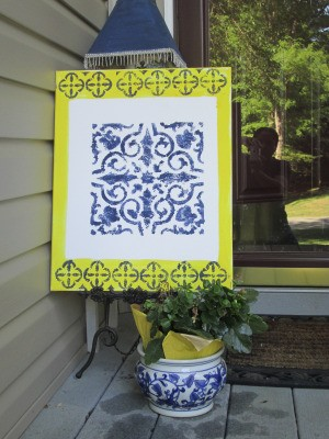 Easy Canvas Art -artwork displayed outside on porch