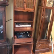 Value of a Vintage GE Upright Cabinet Radio and Record Player - tall cabinet with built-in record plaber
