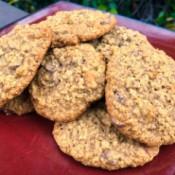 Chewy Oatmeal Chocolate Chip Walnut Cookies (GF)