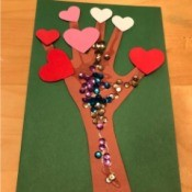Heart Tree Mother's Day Card - finished card