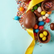 Candy eggs for Easter
