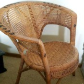 Value of a Vintage Wicker Chair - vintage round back wicker chair