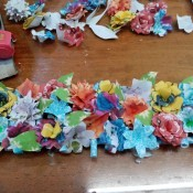 How to Make Paper Flower Wall Decor - ready to hang