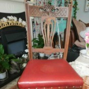 Identifying Antique Chairs - reupholstered dining chair