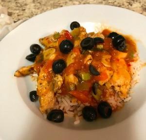 Salsa Chicken over Rice