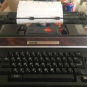 Repairing a Brother Typewriter - closeup of a typewriter