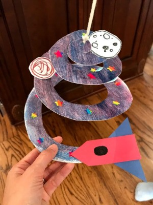 Rocket Paper Twirler Room Decor - ready to hang