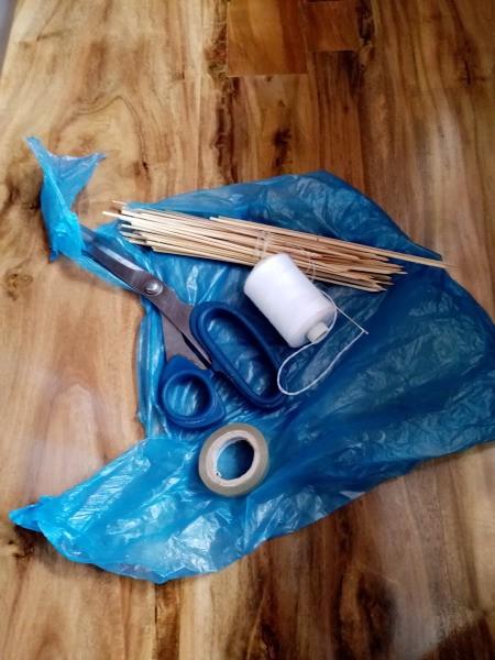 How to Make a Mini Kiddie Kite - supplies