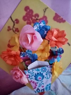 Flower Vase Mother's Day Card - finished card