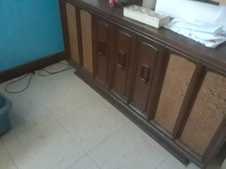 Value of a Vintage Stereo Console - unidentified stereo with things stacked on top