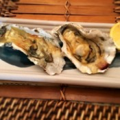 finished Japanese Style Grilled Oysters