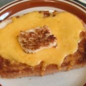 Egg on Toast with melted cheese on top