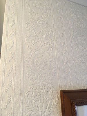 Identifying Old Wallpaper - vertical patterned paintable wallpaper