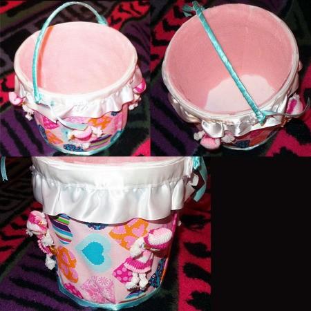 Homemade Recycled Flower Girl Basket