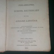 Value of an 1805 Philadelphia School Dictionary - cover page