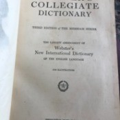 Value of a Webster's Collegiate Dictionary - cover page