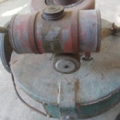 Identifying an Old Gas Mower - old round housing gas mower