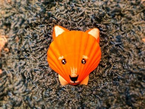 Make a Cute Fox from Shells - finished shell fox face