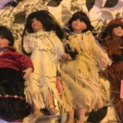 Value of Paradise Gallery Dolls - 4 dolls in Native American dress