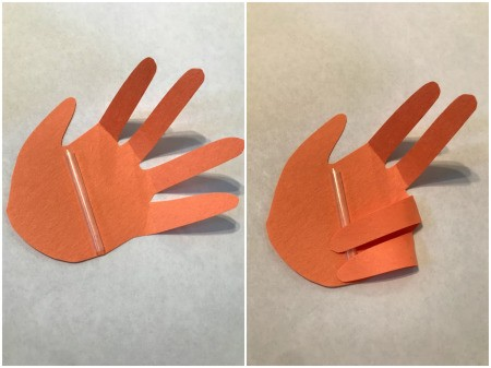 Thumbs Up Father's Day Card - tape or glue fingers down to create a thumbs up hand