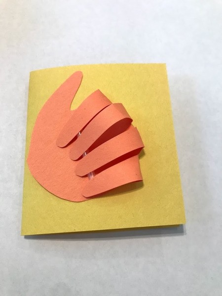 Thumbs Up Father's Day Card - glue hand to the front of a folder piece of paper