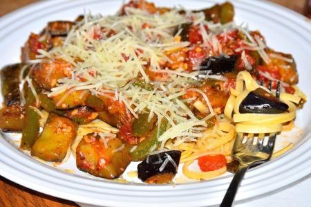 Plate of Vegan Italian Stir-Fry