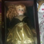 Value and Identification of a Porcelain Doll - doll in a glass fronted wooden box