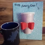 Father's Day Coffee Cup Greeting Card - card an a ceramic coffee cup