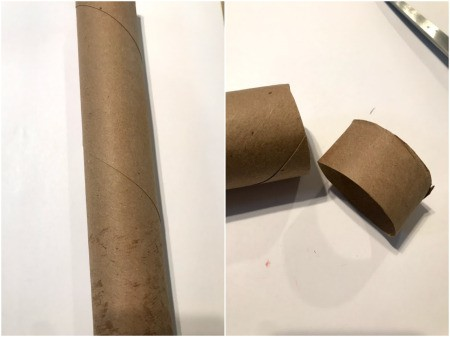 Making Paper Roll Kids' Cuff Bracelets - cut sections of the paper roll to the desired width you would like