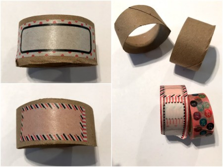 Making Paper Roll Kids' Cuff Bracelets - decorate with washi tape