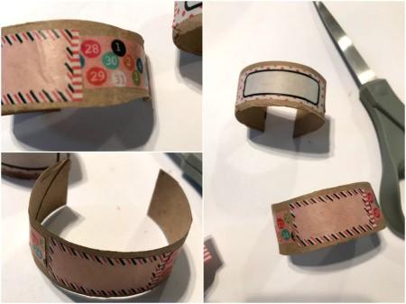 Making Paper Roll Kids' Cuff Bracelets - cut to make a cuff