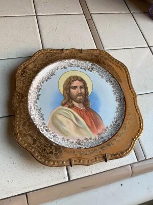 Value of Homer Laughlin Georgian Religious Plates - Jesus plate