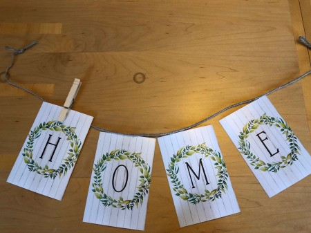 Home Banner - first letter clipped on and the rest arranged and ready to add