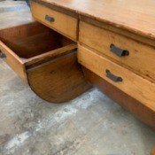 Finding the Value of Antique Furniture - cabinet with two drawers and two lower pull out bins