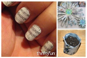 Crafts Using Newspapers FB montage